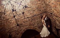 Really cool picture. I love the brick and metal.  indy-weddings-dt | CANAL 337