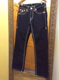 Authentic True Religion Jeans Ricky Super T, Size: 31, Seat 34, USA, $352.00 #TrueReligion #ClassicStraightLeg #Jeans