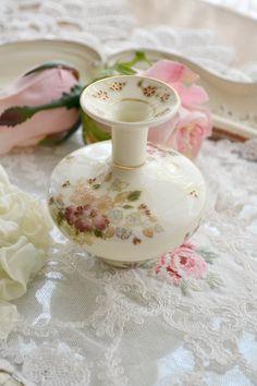 stunning vintage hand painted Hungarian miniature vase etsy Jennelise Rose