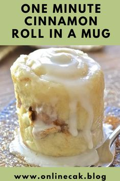 One Minute Cinnamon Roll in a Mug - Recipes for moms