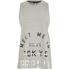 Grey meet me in Berlin print tank top - print t-shirts / vests - t shirts / vests / sweats - women