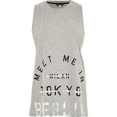 Grey meet me in Berlin print tank top - print t-shirts / vests - t shirts / vests / sweats - women