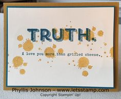 2015-2017 Stampin' Up! In Colors - Delightful Dijon and Words of Truth Stamp Set