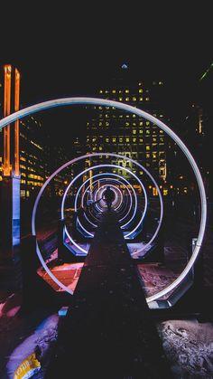 Tunnel to eternity photo by Cédric Servay ( on Unsplash Performance Artistique, Light Tunnel, Neon Noir, Light Installation, Laura Lee, Illustrations, Neon Lighting, Light Art, Event Design