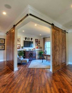 Partition sliding barn doors