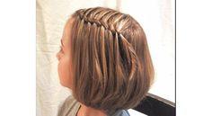 Tutorial waterfall braid half updo hair styles little girl hairstyles braided hairstyles Sweet Hairstyles, Flower Girl Hairstyles, Braided Hairstyles, Hairstyle Braid, Teenage Hairstyles, Hairstyle Ideas, Short Girl Hairstyles, Elegant Hairstyles, Kids Hairstyle
