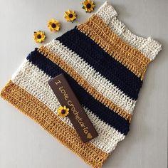 Cropped de croche | Crochetaria | listras | colorido