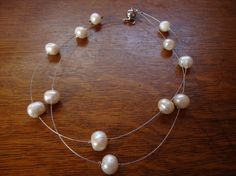 Staggered Freshwater Pearl Necklace