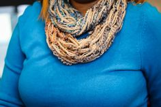 Super Soft arm knit tube infinity scarf, made with three different types of yarns to give it a beautiful textured look and feel. Add accent to any Arm Knitting, Types Of Yarn, Yarns, Infinity, Tube, Etsy, Beautiful, Fashion, Moda