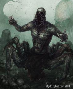 Nightmare fuel. CursedWeaver by Algido on deviantART