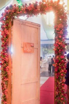 Among the couple's #DIY projects was the floral doorway that welcomed guests to the reception space. From Yang & Ardy's wedding featured on www.bridalbook.ph