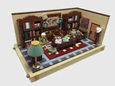 Lego Room Design Ideas – How to build it Lego Creationary, Legos, Lego Modular, Lego Design, Lego Office, Lego Furniture, Box Container, Walt Disney, Lego Mecha