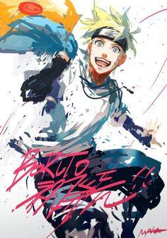 they just drew Naruto, erase one scar each cheek, added the necklace then just put on 'Boruto' on the drawing. Naruto Shippuden, Kakashi Naruto, Naruto Gaiden, Sarada Uchiha, Naruto Uzumaki Art, Hinata Hyuga, Manga Anime, Anime Body, Naruto Kawaii