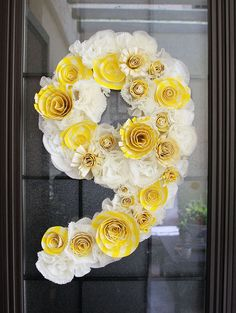 Happy & Fun - Birthday Wreath...would need to man it up for the boys but like the concept
