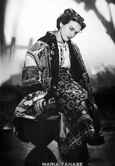 Photo of famous romanians Maria Tanase music people for fans of Romania. famous romanians Maria Tanase in traditional costume romanian people music Traditional Dresses, Traditional Art, Folk Costume, Costumes, Romania People, Constantin Brancusi, She Wolf, New Paris, Music People