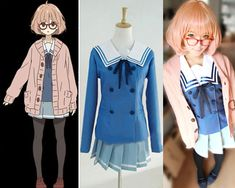 Kuriyama Mirai Character Uniform Custom Cosplay Costume Outfit from Beyond the Boundary on Etsy, $44.99