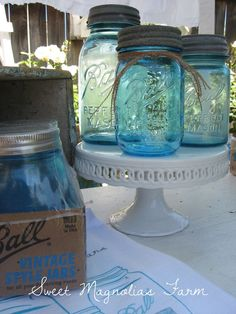 """~Sweet Magnolias Farm~ ..... """" FREE GIVEAWAY"""" Celebrating Ball's 100 yr. Anniv. with the iconic Blue Jar.......... April 20th~27th 2013..........[ 6 winners ]   """"ENTER TO WIN NOW"""""""