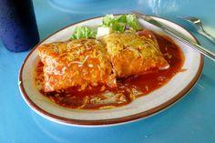 Chicken Burrito in Enchilada Sauce,  The Mango, Mesa, Arizona