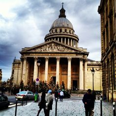 "Panthéon in Paris -- ""At the summit of the hill above the Sorbonne university is the imposing Panthéon, a monument (and mausoleum) of French heroes."""