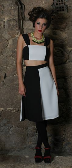 """""""Lesley"""" cropped top and skirt"""