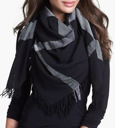 Black & Gray Scarf Love at first sight