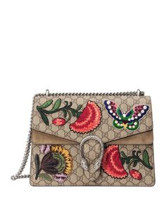 Gucci Dionysus Butterfly GG Supreme Canvas Shoulder Bag, Multi