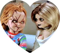 The Bride of Chucky,.I guess these would be horror flicks to a normal person, but they& quite funny and gory to me. Arte Horror, Horror Art, Horror Movie Characters, Horror Movies, Chucky Movies, Estilo Tim Burton, Childs Play Chucky, Bride Of Chucky, Horror Icons