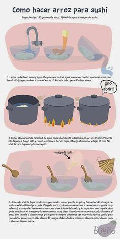 Cómo preparar arroz sushi