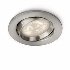 Philips myLiving Ellipse WarmGlow LED Recessed Spotlight, 1 x W LED, Easy Installation, Instant Start - Nickel Philips, Led, Garden Pots, Spotlight, Lights, Metal, Products, Color, Garden Planters