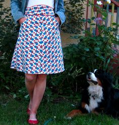 Oh hippo skirt. You make me so happy. By Sigrid, on Burdastyle.