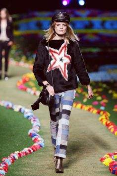 Rock festival style with a tailored twist at the Spring '15 runway show.  #TommySpring15 #NYFW