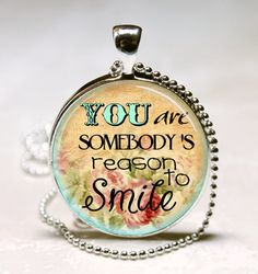 INSPIRATIONAL QUOTE Necklace You Are by vintagewithflair on Etsy, $8.95