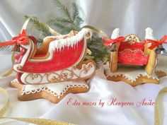 Santa's gingerbread sled | Cookie Connection