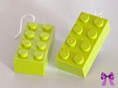 Lego Ohrringe von  Manus Geschenkekiste auf DaWanda.com