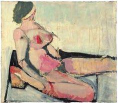Richard Diebenkorn, untitled nude, 1954 Plus Richard Diebenkorn, Figure Sketching, Figure Drawing, Camille Pissarro, Figure Painting, Painting & Drawing, Bay Area Figurative Movement, Robert Motherwell, Cy Twombly
