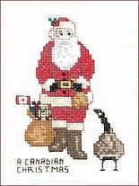 Canadian Christmas free needlework pattern from The Victoria Sampler