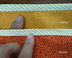 vies_frente_verso Bias Tape, Patches, Zipper, Wallet, Sewing, Sewing Tutorials, Sewing Tips, Dish Towels, General Crafts