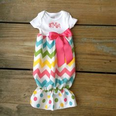 Easter Baby chevron gown Only chevron baby gown by MudanBlossoms, $26.00