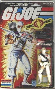 Storm Shadow (v1) G.I. Joe Action Figure - YoJoe Archive.  So the Villains finally emerge with Storm Shadow.  Not a bad start, but they have a lot to make up with.
