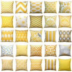 SALE Throw Pillows Premier Prints Yellow and Taupe by Modernality2