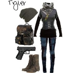Zombie apocalypse: Tyler Zombie Apocalypse Outfit, Apocalypse Fashion, Zombie Apocalypse Survival, Badass Style, My Style, Fandom Outfits, Cosplay Outfits, Sexy Outfits, Casual Chic Style