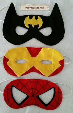 TEMPO SÓ PRA SER FELIZ!: Máscaras de super heróis em feltro