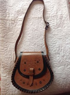 Festival Holiday Hippy Boho Patterned Brown & Black Bag