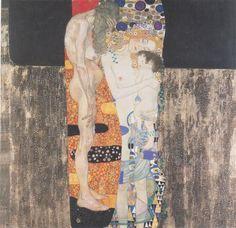 The Three Ages Of Woman Gustav Klimt Original Title: Die drei Lebensalter der Frau Date: 1905 Style: Art Nouveau (Modern) Period: Golden phase Genre: symbolic painting Media: oil, canvas Dimensions: 180 x 180 cm