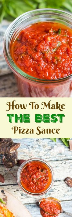 Homemade pizza sauce is actually very easy to make, and the taste is far superior to anything you can buy in a jar