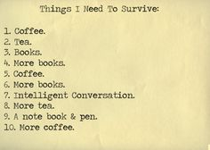 things i need to survive