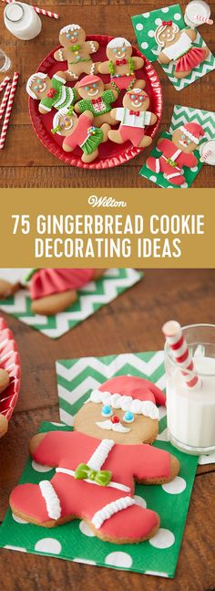 Click to find cookie decorating ideas and inspiration for your gingerbread cookies for your holiday parties! #gingerbreadcookies #gingerbread #christmas #christmascookies #cookiedecorating #wiltoncakes