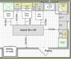 kitchen layouts with island | 10K Kitchen Remodel: Island Design - Traffic & Work Triangle