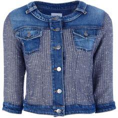 Pinko 'sentimento' Denim Jacket ($390) ❤ liked on Polyvore