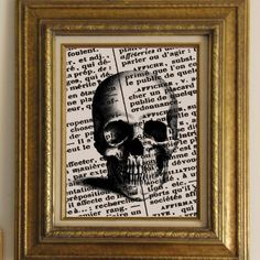 Digital Collage Sheet Halloween Burlap Digital Download Skull Front Anatomy Fabric Transfer Iron On Pillows Tote Bags Tea Towels No. 1139